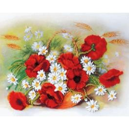 Set with beads - Red poppies