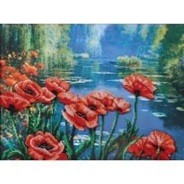 Set with beads - Poppies on the banks