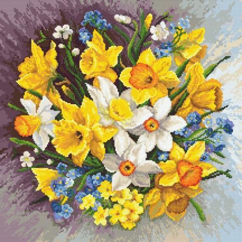 Z 8890 Cross stitch kit - Spring flowers