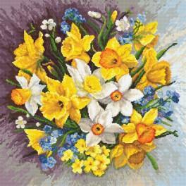 Tapestry aida - Spring flowers