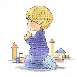 AN 10069 Tapestry aida - Boy's prayer