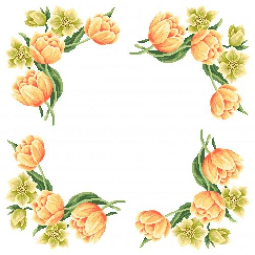 Online pattern - Napkin - Colours of spring