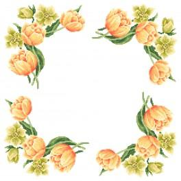 Cross Stitch pattern - Napkin - Colours of spring
