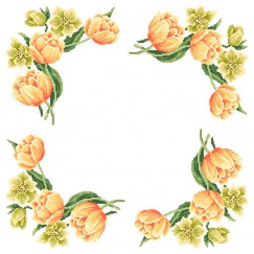 Cross Stitch pattern - Napkin - Colours of spring