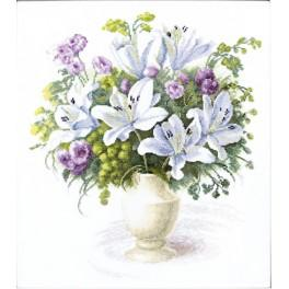 Cross stitch set - Bouquet with white lilies