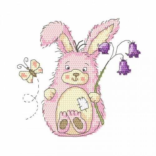 Set with tapestry and mouline - Funny bunny
