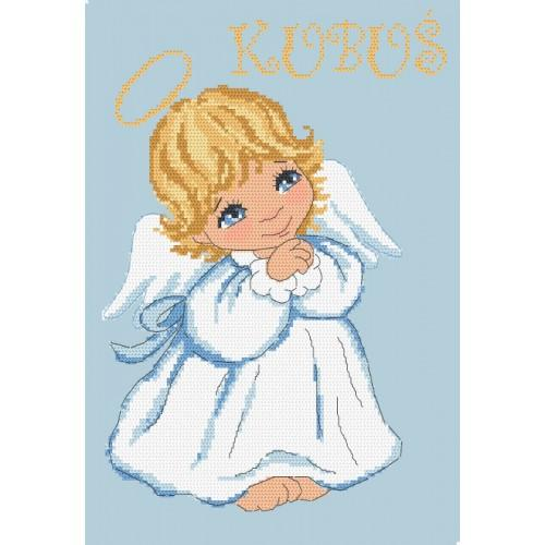 AN 10094 Tapestry aida - Little angel for a boy