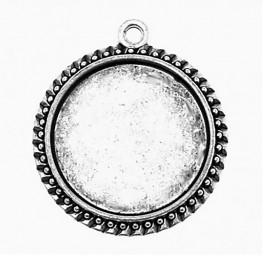Medallion base round silver colour 30mm