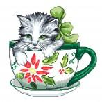 Tapestry canvas - Cat in a cup