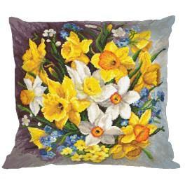 Cross Stitch pattern - Pillow - Pillow - Spring flowers