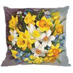 Cross Stitch pattern - Pillow - Pillow - Spring flowers