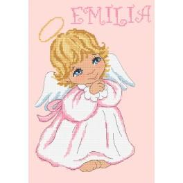 Cross stitch set - Little angel for a girl