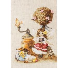 Cross stitch set - Coffe fairy