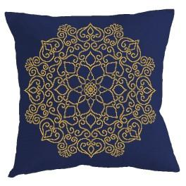 Cross stitch set with mouline and a pillowcase - Pillow - Oriental kaleidoscope