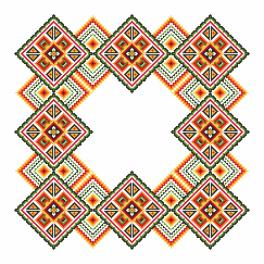 Cross Stitch pattern - Napkin - Colourful squares