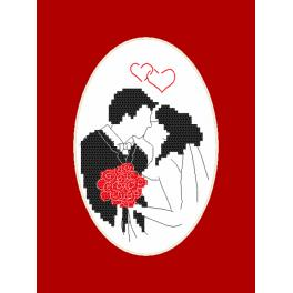 ZU 10113 Cross stitch kit - Card - Newlyweds
