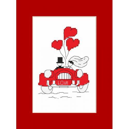 Cross stitch kit - Card - Honeymoon