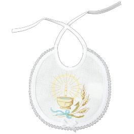 Cross stitch kit with mouline - Bib - Holy Baptism