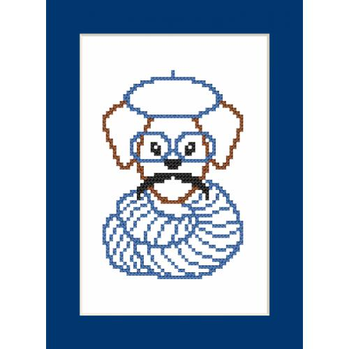 Pattern online - Card - Hipster dog boy II