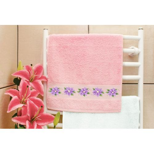 GU 8744 Cross stitch pattern - Towel with clematis