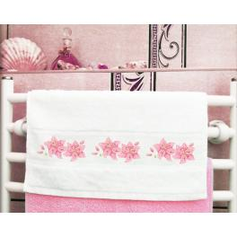 ZU 8742 Cross stitch kit - Towel with lily