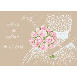 Cross stitch set - Wedding souvenir