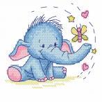 Cross stitch kit - Elephant with a butterfly