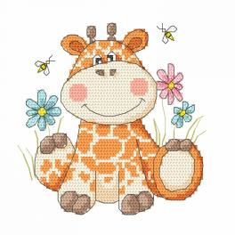 Cross stitch kit - Sweet giraffe