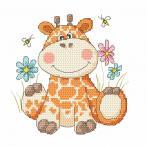 Cross stitch kit - Sweet giraffe