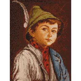 GC 4056 Cross stitch pattern - Boy wearing a German hat