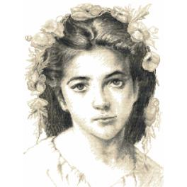 Cross Stitch pattern - Girl by W.Bouguereau