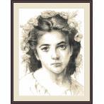 Cross Stitch pattern - Girl by W.Bouguereau