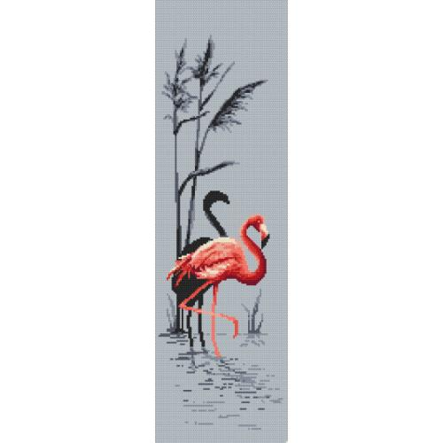 Cross Stitch pattern - Pink flamingo