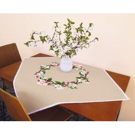 Cross stitch kit - Tablecloth - Around the apple tree