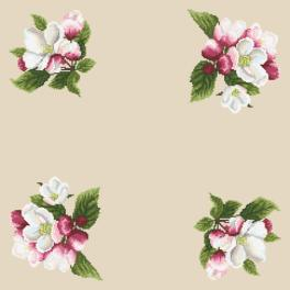 Cross Stitch pattern - Napkin - Around the apple tree II
