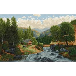 Tapestry canvas - Mountain stream