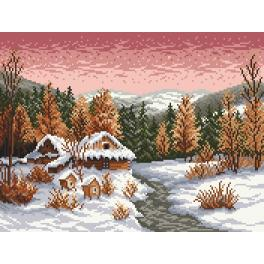 Tapestry canvas - Winter evening - S. Sikora
