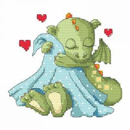 Cross stitch kit - Sleeping dragon