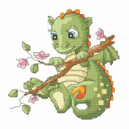 Cross stitch kit - Dragon on a branch