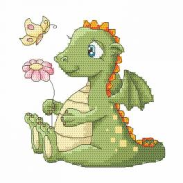 Graphic pattern - Dreamy dragon