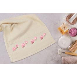 Cross stitch pattern - Towel with magnolia