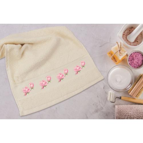 ZU 8741 Cross stitch kit - Towel with lily