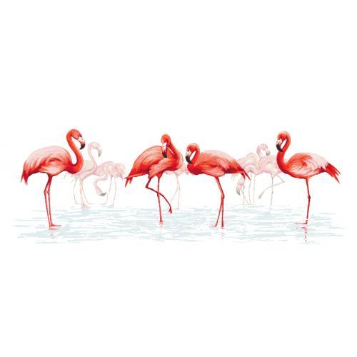 Cross stitch set - Family of flamingos
