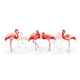 Online pattern - Family of flamingos