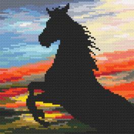 K 4382 Tapestry canvas - Wild stallion