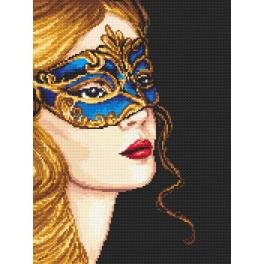 K 4387 Tapestry canvas - Mysterious golden-haired