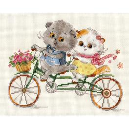 Cross stitch set - It's a happy day