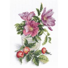 Cross stitch set - Wild Rose