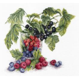 Cross stitch kit - Fruits of summer