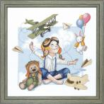 Cross stitch set -Young pilot